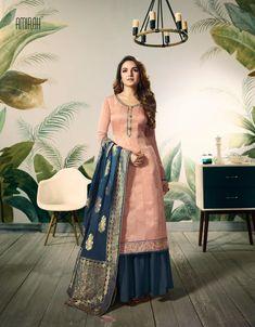 bf01dfa305 Amirah Banaras series Designer Modal Satin Silk Embroidered Traditional  Occasionally Fashion Party Wear Plazzo Salwar Suit Wedding Dress Wholesale  Supplier ...