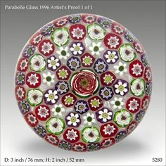 Parabelle Glass 1 of 1 Artist's Proof paperweight  www.pwts,co.uk (ref. 5280)