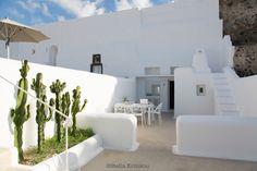 outdoor detail, villa, mesaria, santorini