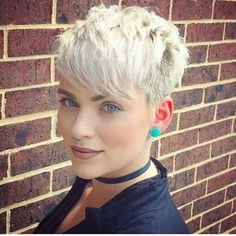 Trending Hairstyles 2019 – Short Pixie Hairstyles - EveSteps Pixie hairstyles are modern hairstyles and many women no matter what their age are keeping their hair short. Short hair is not enough for any woman, Blonde Haircuts, Short Pixie Haircuts, Hairstyles Haircuts, Haircut Short, Haircut Styles, Ladies Short Hairstyles, Blonde Pixie Haircut, Summer Haircuts, Fashion Hairstyles
