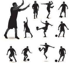 Vectores libres de derechos: Soccer Silhouette