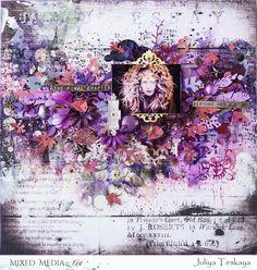 "Mixed Media & Art: ""Final Chapter"" by Juliya Tirskaya Scrapbook Sketches, Scrapbook Albums, Scrapbook Layouts, Diy And Crafts, Paper Crafts, Layout Inspiration, Love Gifts, Mixed Media Art, Dots"
