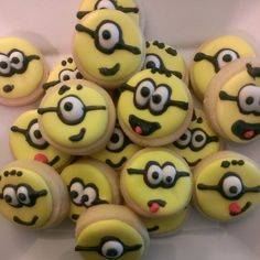 Mini Minion Cookies..4 dzn by CakeItToTheLimit on Etsy, $18.00