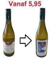 Maak hier u eigen wijnfles met foto of tekst,leuk voor de echte wijn liefhebbers om een unieke wijn fles te geven.