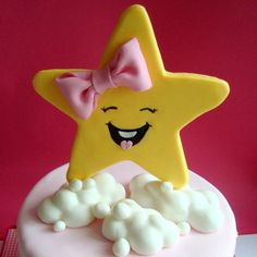 Star Fondant Cake Topper Edible Little by SweetCakeByAnastasia