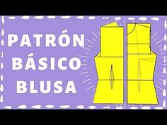 Trazo Básico de Blusa - YouTube Sewing Blouses, Make It Yourself, Education, Men's Shirts, Men's, Sewing Tutorials, Patron Couture, Manualidades, Chiffon Blouses