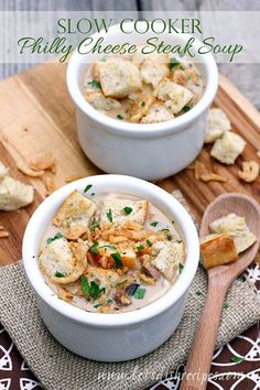 Slow Cooker Philly Cheesesteak Soup