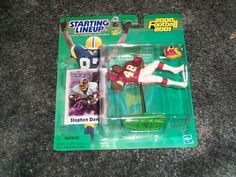 Stephen Davis Washington Redskins 20002001 starting lineup NFL football figure with trading card *** Learn more by visiting the image link.Note:It is affiliate link to Amazon.