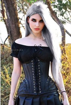 Model: Dayana Crunk Corset: Burleska Corsets Welcome to Gothic and Amazing… Dark Fashion, Gothic Fashion, Fashion Looks, Steampunk Fashion, Emo Fashion, Fashion Clothes, Style Fashion, Alternative Mode, Alternative Fashion