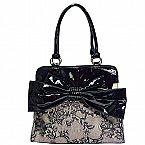 Double Handle Bow & Lace Vintage shape Bag Bow Wow, Handle, Feminine, Bows, Shape, Shoulder Bag, Vintage, Fashion, Women's