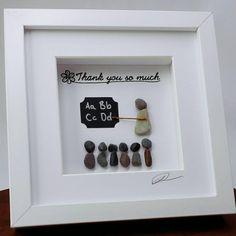 Teacher gift, Teacher present, Teacher appreciation, End of year Teacher gift, Pebble art, Rock art, Home Decor, Wall art, Handmade by rockchicoz on Etsy