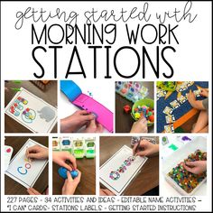 Fine Motor Morning Work Bins (A Differentiated Kindergarten) Differentiated Kindergarten, Kindergarten Centers, Kindergarten Crafts, Kindergarten Classroom, Differentiated Instruction, Classroom Ideas, Classroom Organization, Preschool Classroom, Future Classroom