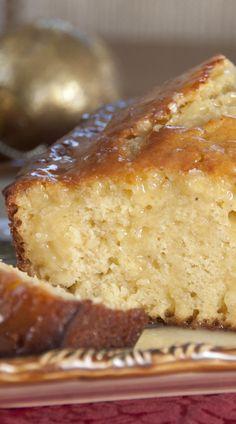 Orange-Glazed Eggnog Quick Bread | Wishes and Dishes