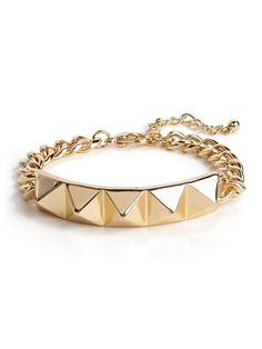 our pyramid ID bracelet from the Courtney Kerr collection!
