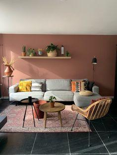 Living Pequeños, Home Living Room, Living Room Decor, Warm Living Rooms, Living Room Walls, Colourful Living Room, Living Room Colors, Home Room Design, Interior Design Living Room