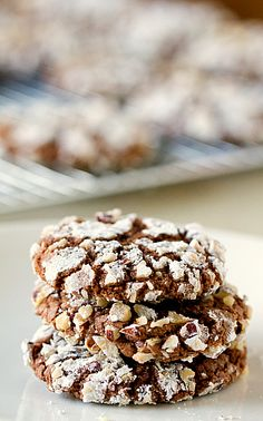 Nutella cookies from Brown Eyed Baker that are like chocolate crinkles.