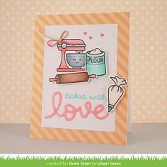 lawn fawn baked with love - Google Search