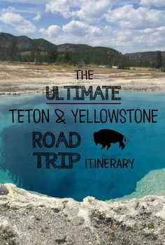 Ultimate Teton and Yellowstone Road Trip Itinerary Planning a road trip to Yellowstone anytime soon? This handy itinerary can help.Planning a road trip to Yellowstone anytime soon? This handy itinerary can help. Road Trip Usa, Places To Travel, Places To See, Vacation Places In Usa, Roadtrip Europa, Yellowstone Vacation, Wyoming Vacation, Yellowstone Hikes, Yellowstone Winter