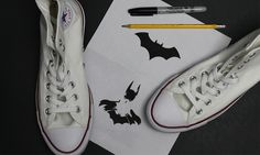 #DIY #Batman #Converse
