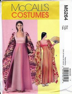 McCall's Costume Pattern M5264 Misses Costumes 6 8 10 12