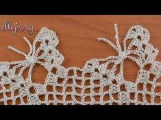 The free crochet butterfly pattern is a recommended pattern to produce cute ornaments or accessories. There are some cute and pretty designs of the c. Crochet Butterfly Pattern, Crochet Edging Patterns, Crochet Borders, Crochet Chart, Filet Crochet, Irish Crochet, Crochet Motif, Crochet Flowers, Crochet Stitches