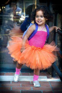d1c6812043 Dora The Explorer Inspired Tutu Costume with Backpack for Toddlers, Baby  Girls, Fun Dora Tutu Dress