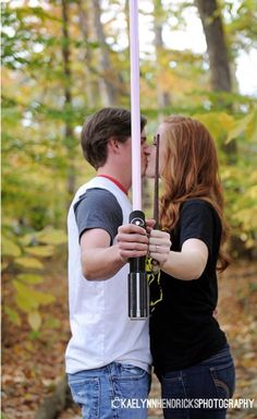 Harry Potter and Star Wars Engagement Pictures  Kaelyn Hendricks Photography