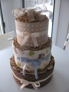 Diaper Cake by DiaperConfections on Etsy, $50.00