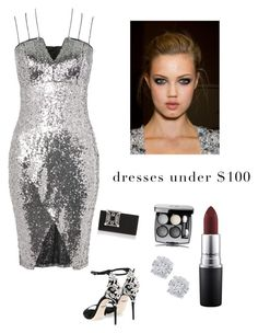 """""""Dresses under $100"""" by kotnourka ❤ liked on Polyvore featuring Rare London, Dolce&Gabbana, Alexandre Vauthier, Manolo Blahnik, Chanel, MAC Cosmetics and Effy Jewelry"""