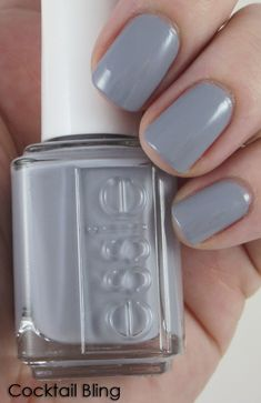 Essie Cocktail Bling - slightly blue-leaning pale gray