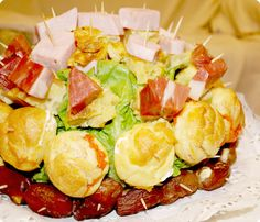 Profiteroles para erizo salado