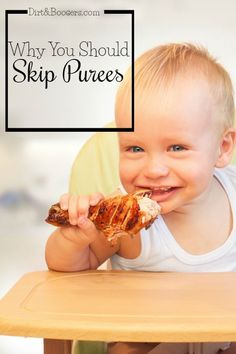 Have you heard of Baby Led Weaning?  Sounds like a great way to start babies on solids!