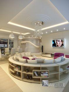 Apartment interiors creative design from AvKube
