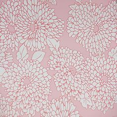 wallpaper collections - mums - peony and rose on white | Meg Braff Designs, LLC