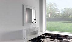 #recibidor #decoracion Recibidor formado por Consola y Espejo de gran formato