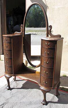 Quartersawn Oak Jean Harlow Dresser