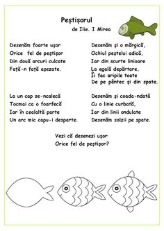 Citim, desenăm, colorăm - Peștișorul Experiment, Kids Poems, Kids Reading, Nursery Rhymes, Preschool Activities, Books To Read, Kindergarten, Homeschool, Nostalgia