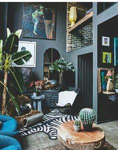 Eclectic interior design ideas tips for eclectic style eclectic home decor. Interior Room, Style Deco, Dark Interiors, Design Interiors, Eclectic Decor, Eclectic Style, Eclectic Design, Modern Interior Design, Contemporary Interior