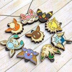 Pick Your Eeveelution Face Pokemon Necklace Laser Cut Pokemon Jewelry, Pokemon Necklace, Laser Cut Jewelry, Diy Jewelry, Deadpool Pikachu, Cute Pokemon Pictures, Pokemon Tattoo, Pet Halloween Costumes, Buy Stuff