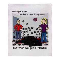 Newfie House - Throw Blanket
