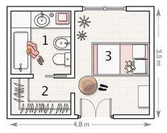 Super Ideas For Bathroom Closet Layout Master Master Bedroom Plans, Master Bedroom Addition, Master Bedroom Layout, Master Bedroom Bathroom, Bedroom Closet Design, Bedroom Floor Plans, Upstairs Bathrooms, Bedroom Layouts, Master Closet