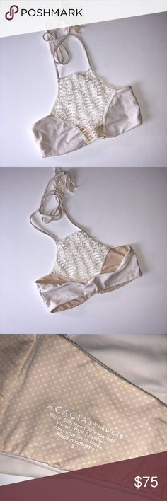 Acacia swimwear Haupia Panama top SMALL Acacia swimwear Haupia Panama top- up for sale is a acacia swimwear Panama top in Haupia. Size small worn once in good condition. $75 acacia swimwear Swim Bikinis