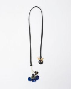 Marni   Floral Horn Necklace   La Garçonne