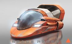 Sci-Fi Art: Space Racer by Thomas Wievegg ArtCoolvibe – Digital Art Spaceship Art, Spaceship Design, Futuristic Cars, Futuristic Design, Futuristic Vehicles, Alien Concept Art, Concept Cars, Star Wars Watch, Science Fiction Art