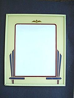 deco photo frame reverse painted raf