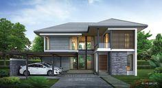 แบบบ้านสองชั้นสไตล์รีสอร์ท, แบบบ้าน 2 ชั้น, แบบบ้าน 4 ห้องนอน, ห้องน้ำสไตล์รีสอรท, พื้นที่ใช้สอย 230 ตร.ม., RE-H2-505.230, แบบบ้านสไล์รีสอร์ท , รับเหมาก่อสร้าง, รับสร้างบ้าน, รับสร้างบ้านสองชั้น