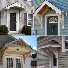 Builiding A Portico Back Door Entrance, Back Doors, Garage Entry Door,  Entryway,