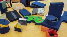 Box making is one of the skills a bookbinder should master. There are many types and styles of boxes: splicases and clamshells boxes for books; small boxes and boxes with many compartments and drawers for jewelry, gifts and small things; portfolios, trays and round boxes for different needs