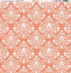 Ella and Viv Paper Company - Coral Patterns Collection - 12 x 12 Paper - Fourteen at Scrapbook.com