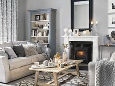grey living room ideas for gorgeous and elegant spaces Pretty living room grey Ideal Home .ukPretty living room grey Ideal Home . Living Pequeños, Coastal Living Rooms, My Living Room, Small Living, Living Room Decor Colors Grey, Grey Living Room Ideas Colour Palettes, Modern Living, Black And Cream Living Room, Beige And Grey Living Room